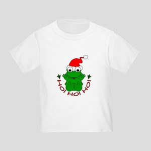 Cartoon Frog Santa Toddler T-Shirt