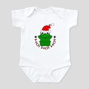 Cartoon Frog Santa Infant Bodysuit