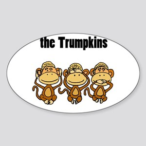 Funny Trump Cartoon Sticker
