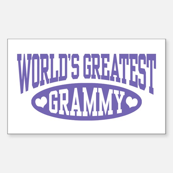 World's Greatest Grammy Sticker (Rectangle)