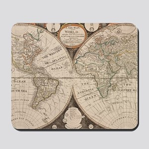Vintage Map of The World (1799) 5 Mousepad