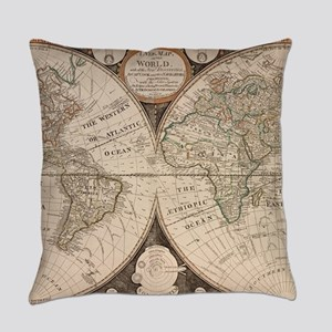 Vintage Map of The World (1799) 5 Everyday Pillow