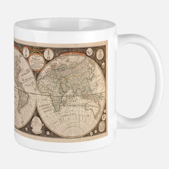 Vintage Map of The World (1799) 5 Mugs