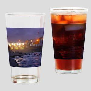 Ribeira Grande at night Drinking Glass