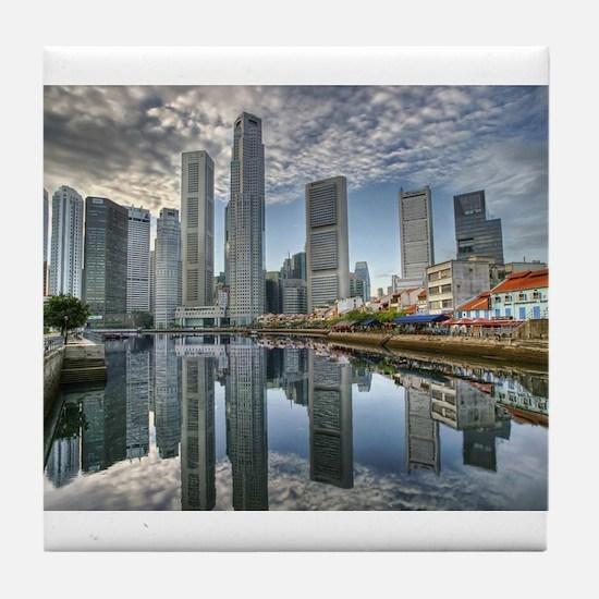 Singapore City Tile Coaster