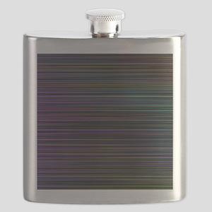 Decorative Colorful Stripes Flask