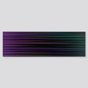 Decorative Colorful Stripes Bumper Sticker