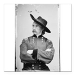 George Armstrong Custer Square Car Magnet 3