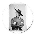 George Armstrong Custer Round Car Magnet