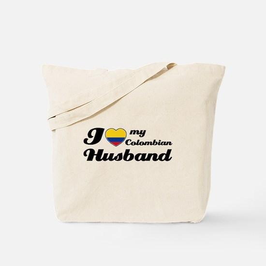 I love my Colombian Husband Tote Bag