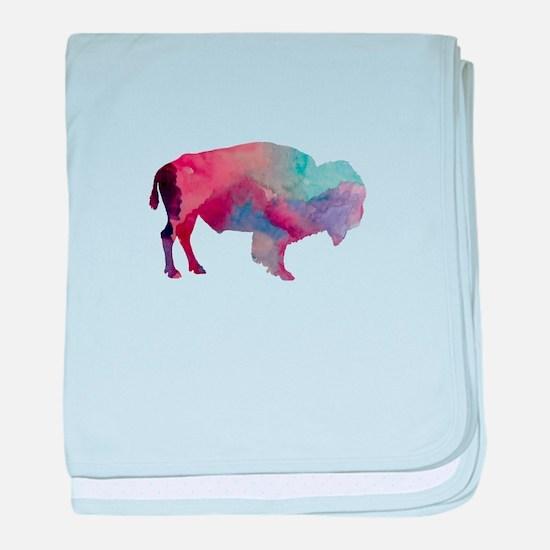 Bison baby blanket