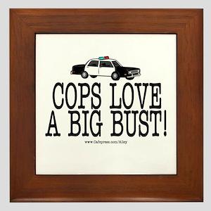 Police Bust Framed Tile