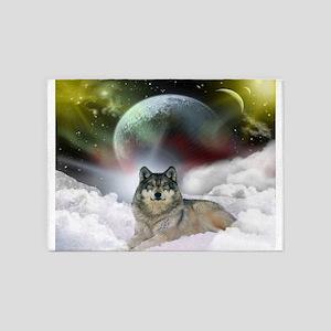 Wolf Cloud 5'x7'Area Rug