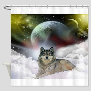Wolf Cloud Shower Curtain