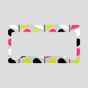 Retro Pattern License Plate Holder