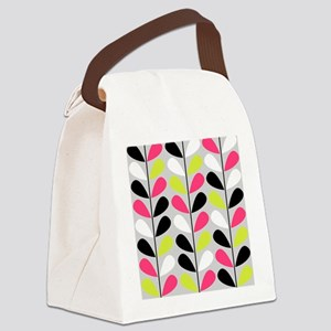 Retro Pattern Canvas Lunch Bag