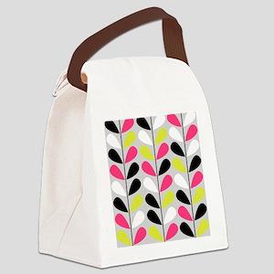 Retro Pattern Canvas Lunch Bag
