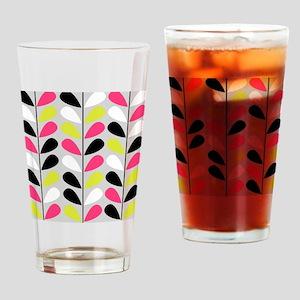 Retro Pattern Drinking Glass