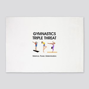 TOP Gymnastics Slogan 5'x7'Area Rug