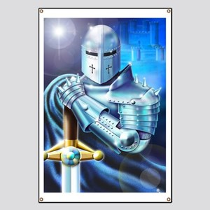 Blue Knight Banner