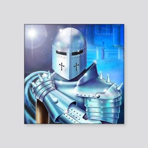 "Blue Knight Square Sticker 3"" x 3"""