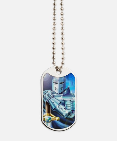 Blue Knight Dog Tags