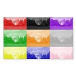 Colourful House Rectangle Sticker