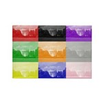 Colourful House Rectangle Magnet (10 pack)