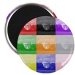 "Colourful House 2.25"" Magnet (100 pack)"