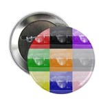 "Colourful House 2.25"" Button (10 pack)"