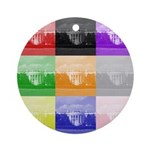 Colourful House Ornament (Round)