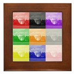 Colourful House Framed Tile