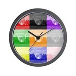 Colourful House Wall Clock