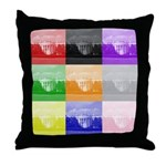Colourful House Throw Pillow