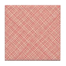 Red Weave Tile Coaster