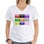 Colourful House Women's V-Neck T-Shirt