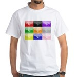 Colourful House White T-Shirt