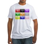 Colourful House Fitted T-Shirt