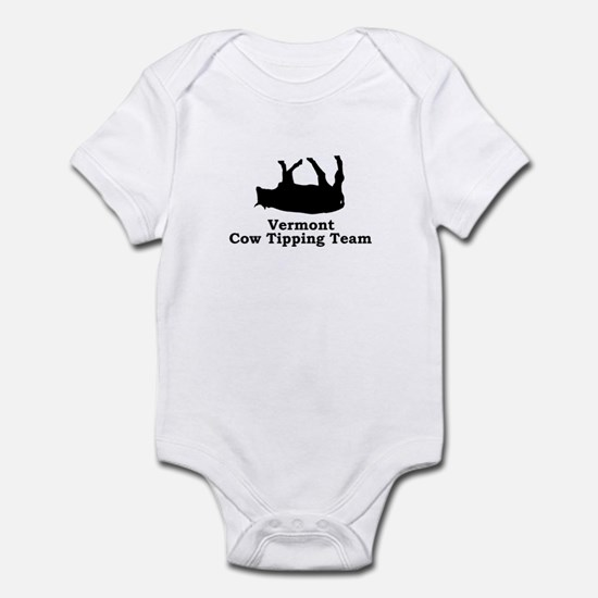 Vermont Cow Tipping Infant Bodysuit