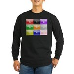 Colourful House Long Sleeve Dark T-Shirt