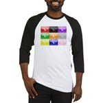 Colourful House Baseball Jersey