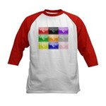 Colourful House Kids Baseball Jersey
