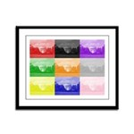 Colourful House Framed Panel Print