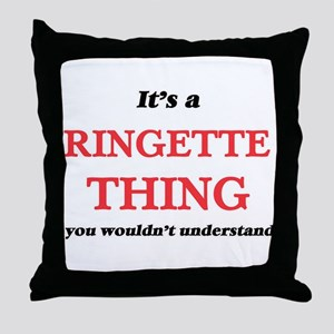 It's a Ringette thing, you wouldn Throw Pillow