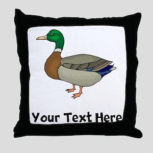 Mallard Duck (Custom) Throw Pillow