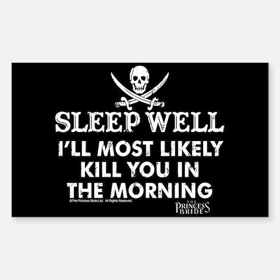 Sleep Well Sticker (rectangle)
