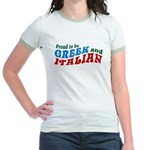 Proud Greek and Italian Jr. Ringer T-Shirt