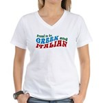 Proud Greek and Italian Women's V-Neck T-Shirt