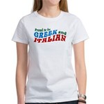 Proud Greek and Italian Women's T-Shirt