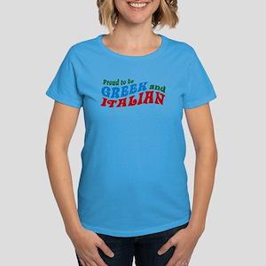 Proud Greek and Italian Women's Dark T-Shirt